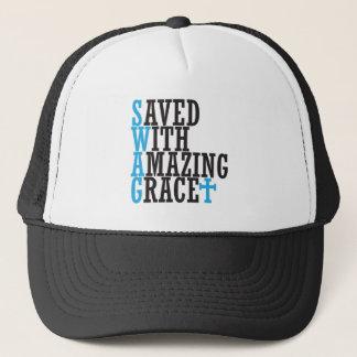 Boné Salvar com o chapéu transversal cristão dos GANHOS