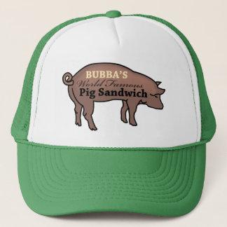 Boné Sanduíche mundialmente famoso do porco de Bubba