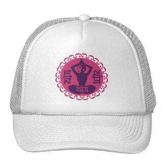 Boné sânscrito & de Yin Yang da ioga do símbolo