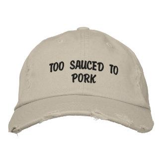 Boné Sauced demasiado à carne de porco