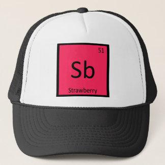Boné Sb - mesa periódica da química da fruta da morango