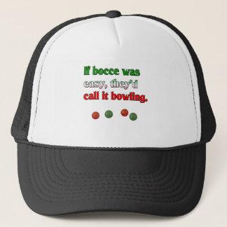Boné Se Bocce era fácil, chamá-lo-iam boliche