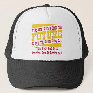 Boné Se ninguém vem do futuro o parar