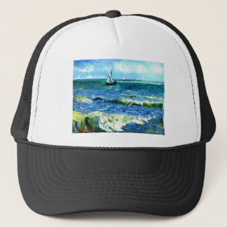 Boné Seascape em Saintes-Maries, Vincent van Gogh