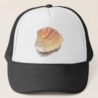 Boné Seashell do berbigão, alaranjado e amarelo da