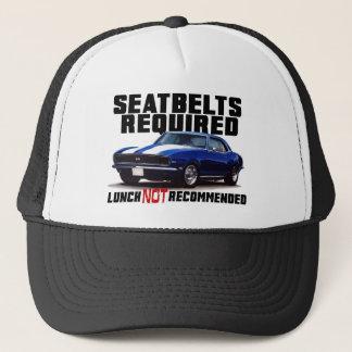 Boné Seatbelts exigidos para o camaro