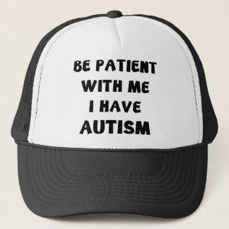 Boné Seja paciente comigo que eu estou com o autismo