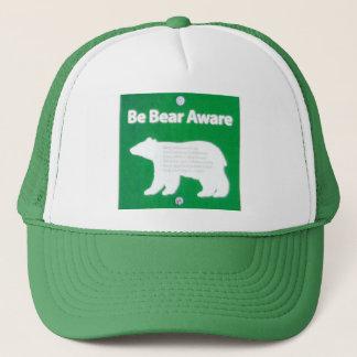 Boné Seja urso ciente