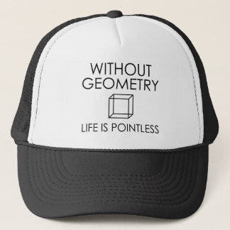 Boné Sem geometria a vida é injustificada