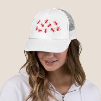 Boné Senhora Camionista Engraçado Chapéu com formigas