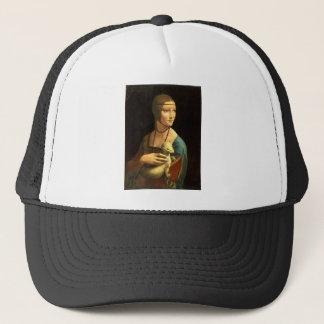 Boné Senhora da pintura de Da Vinci original com um