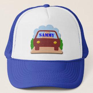 Boné Seu nome no janela-chapéu do carro