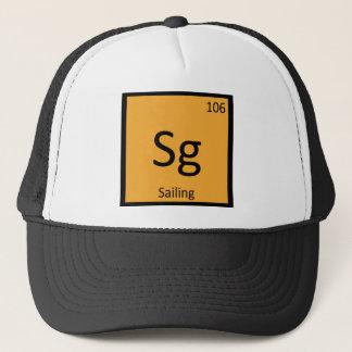 Boné SG - A navigação ostenta a mesa periódica da