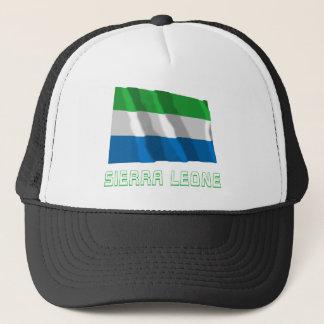 Boné Sierra Leone que acena a bandeira com nome