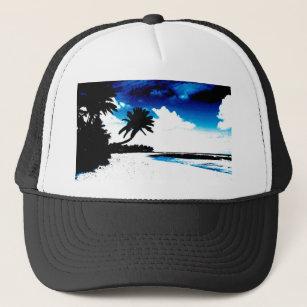 Boné Silhueta branca da palmeira do preto azul 2d2dfc11406