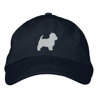 Boné Silhueta de Terrier branco de montanhas ocidentais