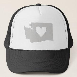 Boné Silhueta do estado de Washington do coração