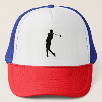 Boné Silhueta do jogador de golfe