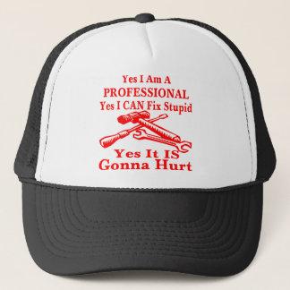 Boné Sim eu sou um profissional sim que eu posso fixar