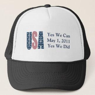 Boné Sim nós fizemos o chapéu do morto de Bin Laden