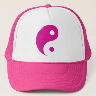 Boné Símbolo cor-de-rosa da taoísta de Yin Yang