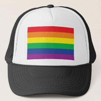 Boné Símbolo da bandeira do orgulho gay da liberdade do