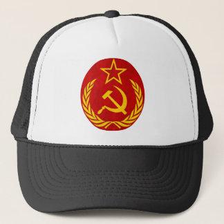 Boné símbolo do russo do comunismo