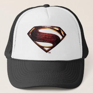 Boné Símbolo metálico do superman da liga de justiça |