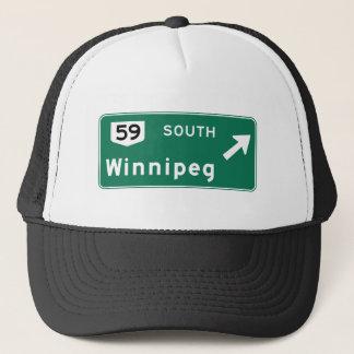 Boné Sinal de estrada de Winnipeg, Canadá