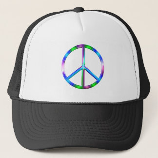 Boné Sinal de paz colorido brilhante