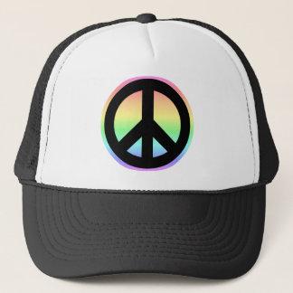 Boné Sinal de paz Pastel do arco-íris