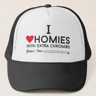 Boné Síndrome de Down: Eu amo homies com chromiesTM
