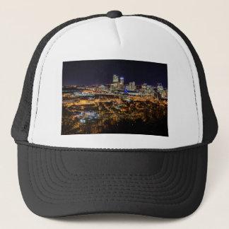 Boné Skyline de Pittsburgh na noite