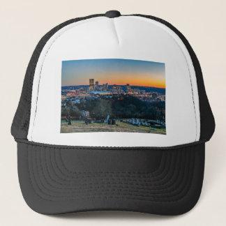 Boné Skyline de Pittsburgh no por do sol