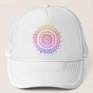 Boné Snapback da mandala do arco-íris