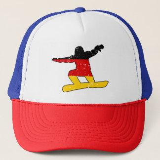 Boné SNOWBOARDER alemão da bandeira (preto)