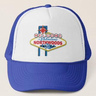 Boné Snowmobiling/boa vinda ao Northwoods