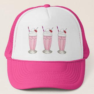 Boné Sobremesa cor-de-rosa do batido da agitação do