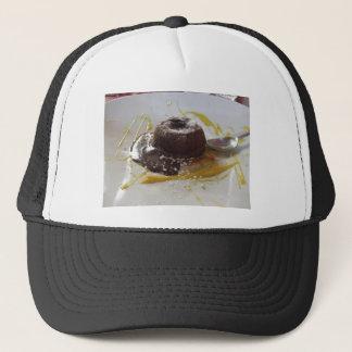 Boné Sobremesa morna do bolo da lava do fundente do