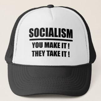 BONÉ SOCIALISMO VOCÊ FÁ-LO QUE LHE TOMAM A ENGRENAGEM!