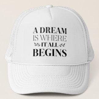 Boné Sonhos, citações inspiradores da atitude do
