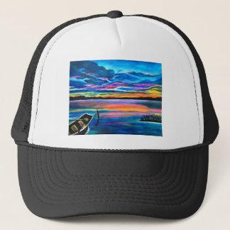 Boné Sozinho esquerdo uma pintura do barco do seascape