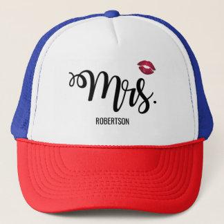 Boné Sra. com um chapéu do camionista do beijo