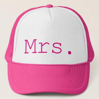 Boné Sra. rosa quente customizável
