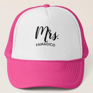 Boné Sra. (seu sobrenome) chapéu do camionista do