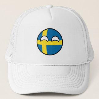 Boné Suecia Geeky de tensão engraçada Countryball