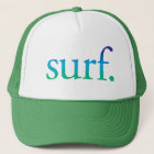 Boné surfe o chapéu tropical da praia do surf azul e