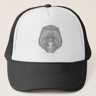Boné T do macaco do orangotango - coloração do estilo
