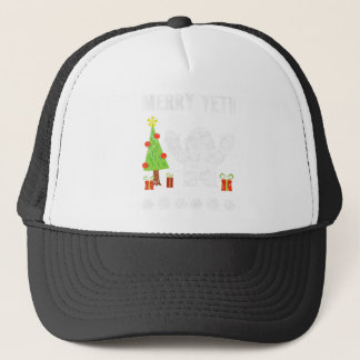 Boné T gráfico na moda do feriado alegre do Natal do