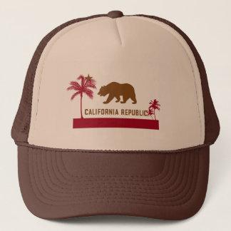 Boné T-shirt da bandeira de Califórnia - palmeiras &